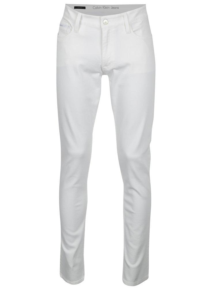Bílé pánské slim straight džíny Calvin Klein Jeans