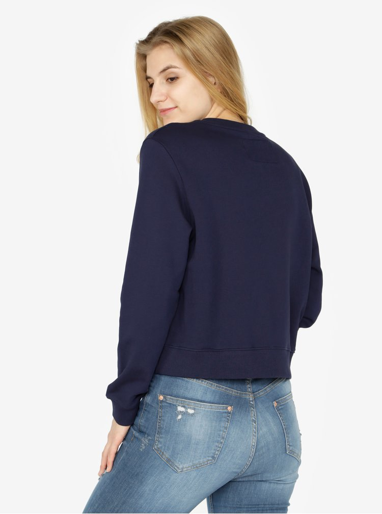 Tmavě modrá dámská mikina s potiskem Calvin Klein Jeans Hebe