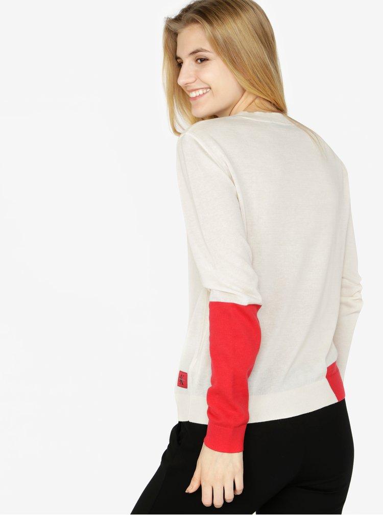 Krémový dámský svetr s příměsí vlny Calvin Klein Jeans Sheldon