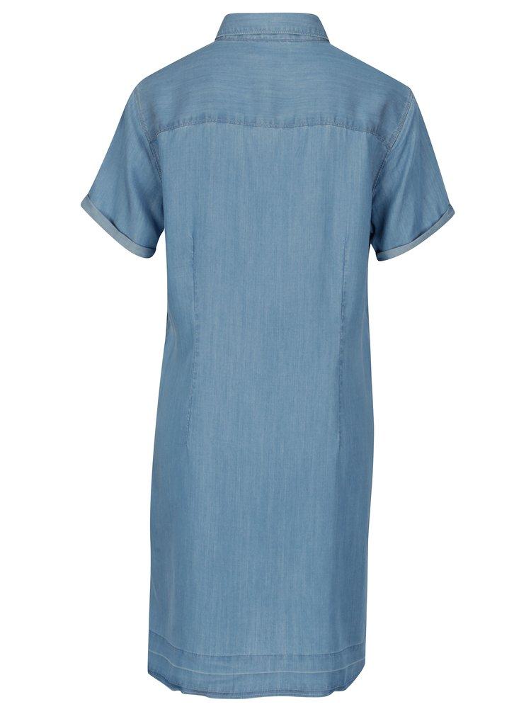 Světle modré košilové šaty Lee Delft