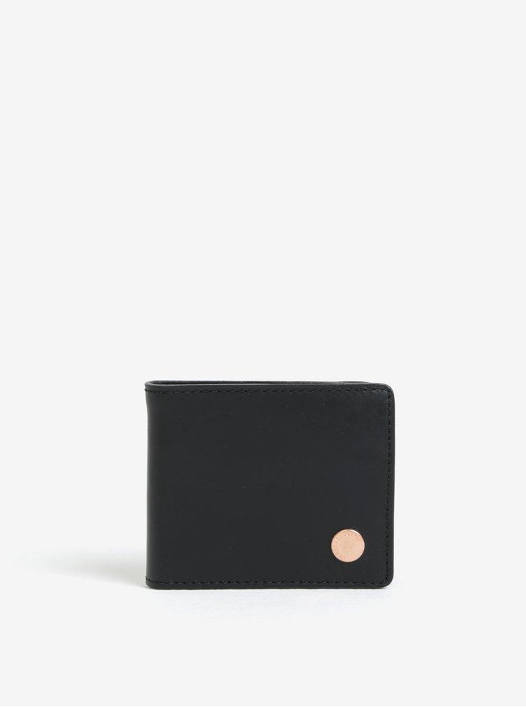 Portofel negru din piele naturala pentru barbati - Herschel Supply Vincent