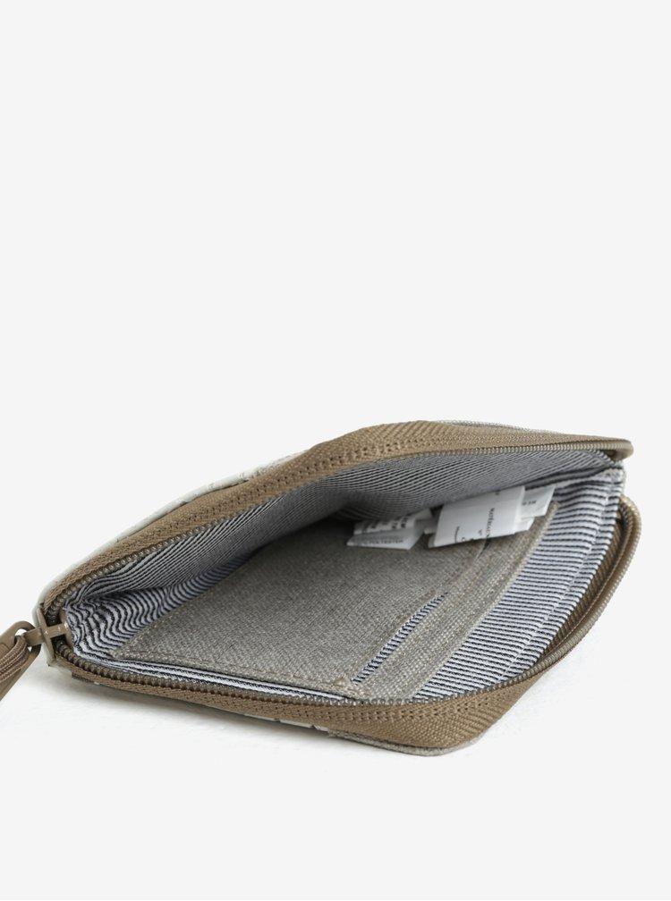 Šedo-krémová peněženka Herschel Johnny