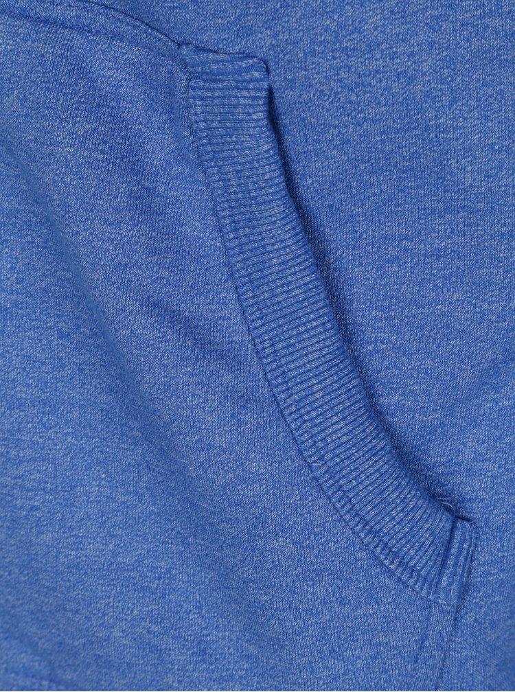 Modrá pánská mikina s kapucí Superdry