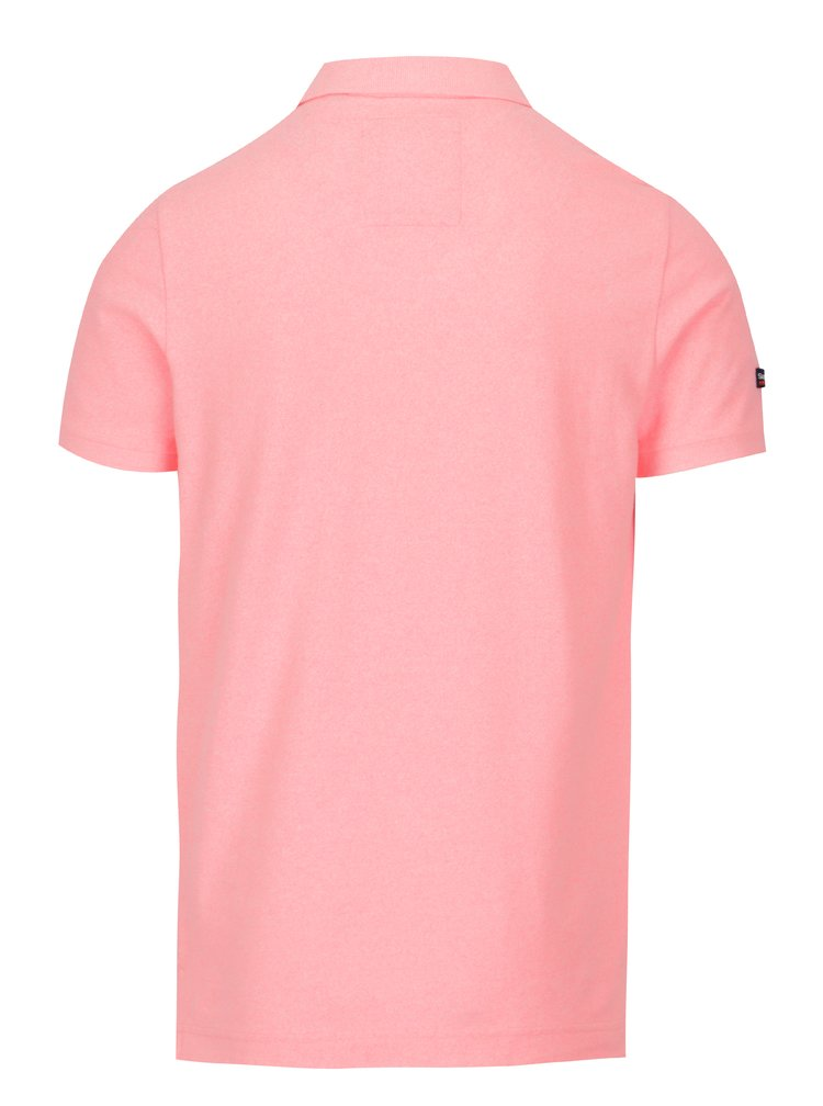 Neonově růžové pánské polo tričko Superdry