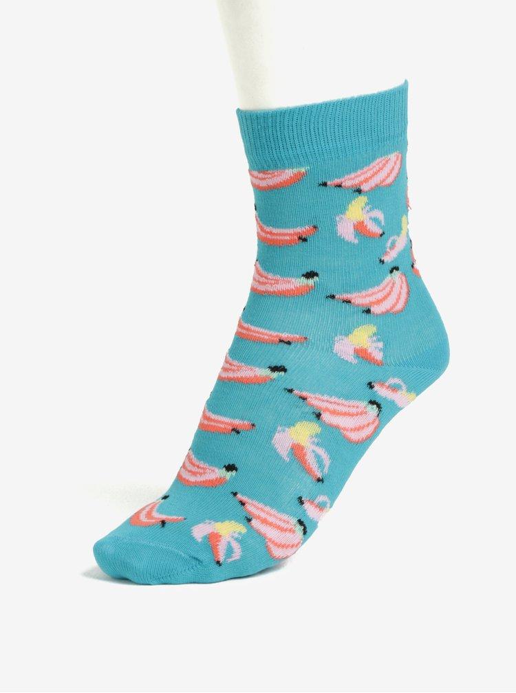 Modré dětské ponožky Happy Socks Banana