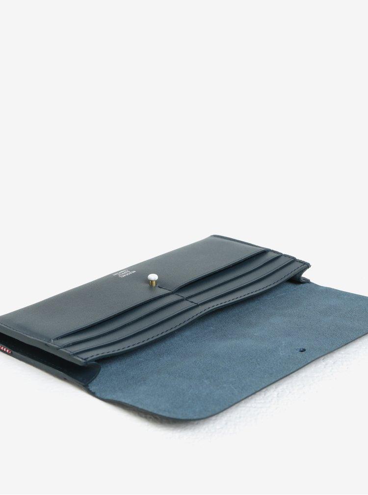 Tmavě modrá dámská kožená peněženka Herschel Distance