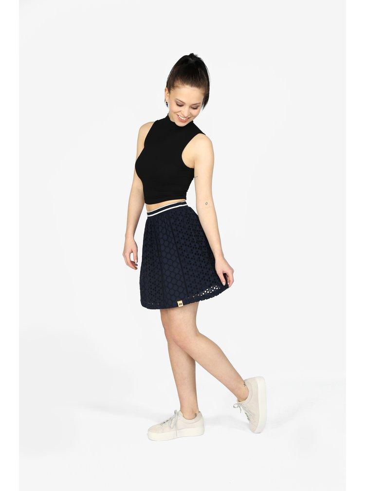 Tmavě modrá áčková sukně Superdry