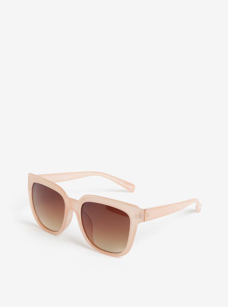 Světle růžové sluneční brýle Pieces Ginna