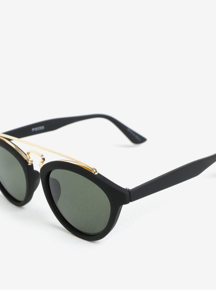 Černé sluneční brýle Pieces Ginna