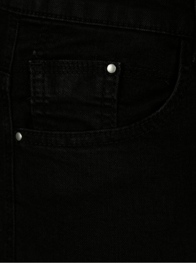 Černé džínové kraťasy Dorothy Perkins Curve