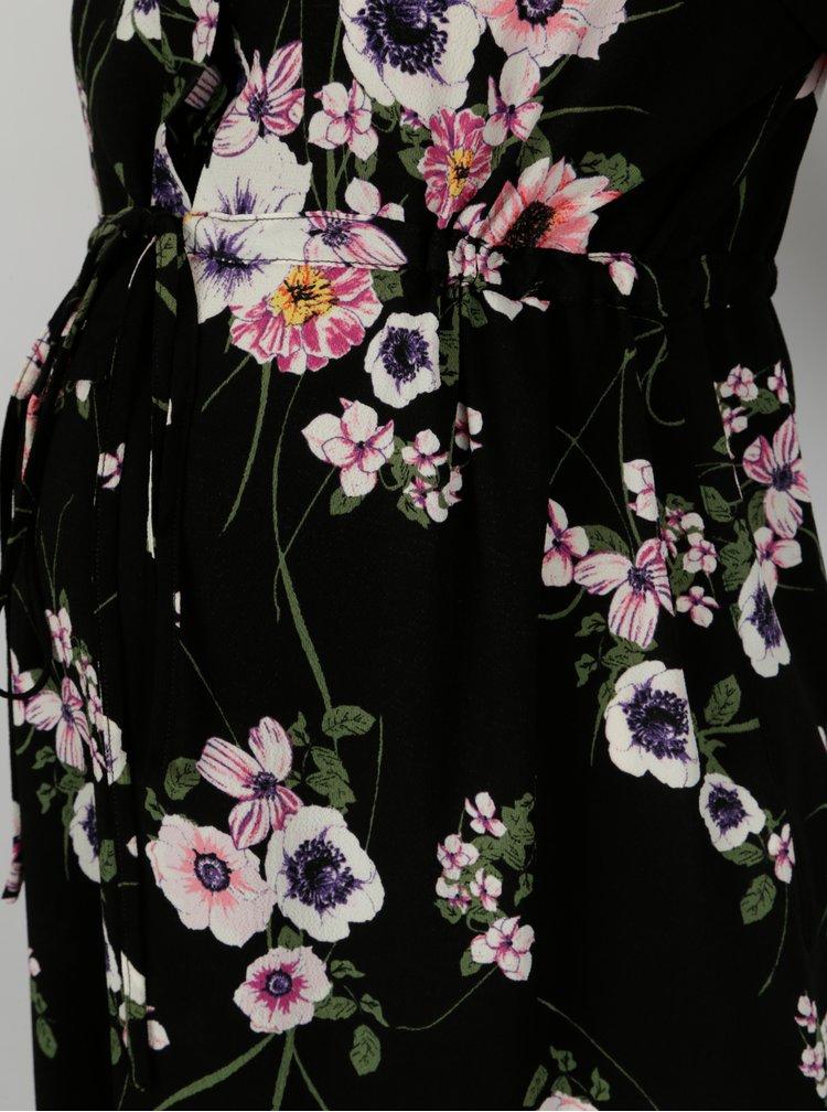 Černá květovaná těhotenská tunika Dorothy Perkins Maternity