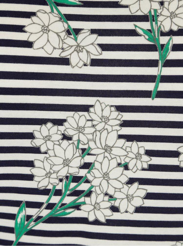 Tricou bleumarin cu print floral - Dorothy Perkins