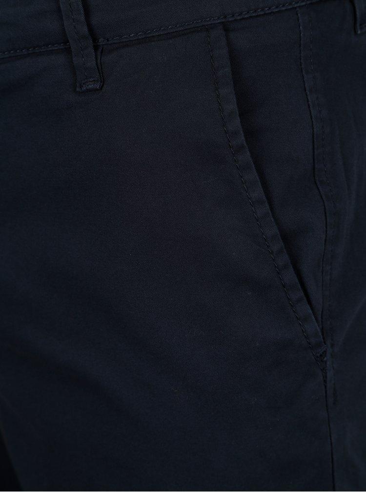Tmavě modré chino kraťasy Selected Homme Paris