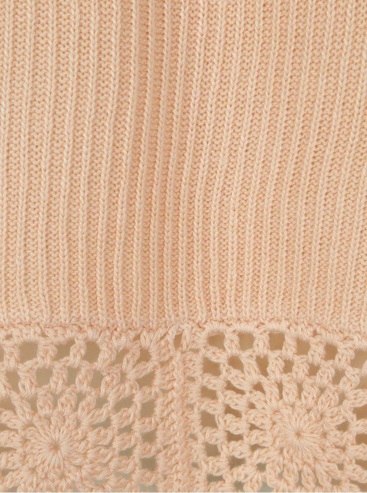 Světle růžový žebrovaný svetr Dorothy Perkins