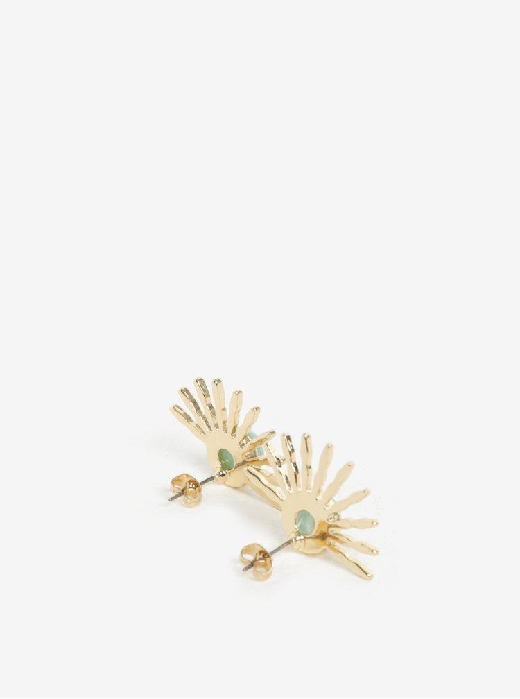 Náušnice ve zlaté barvě Pieces Gaia