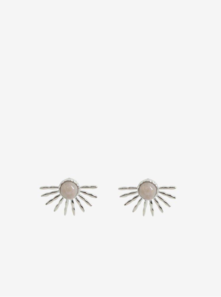 Náušnice ve stříbrné barvě Pieces Gaia