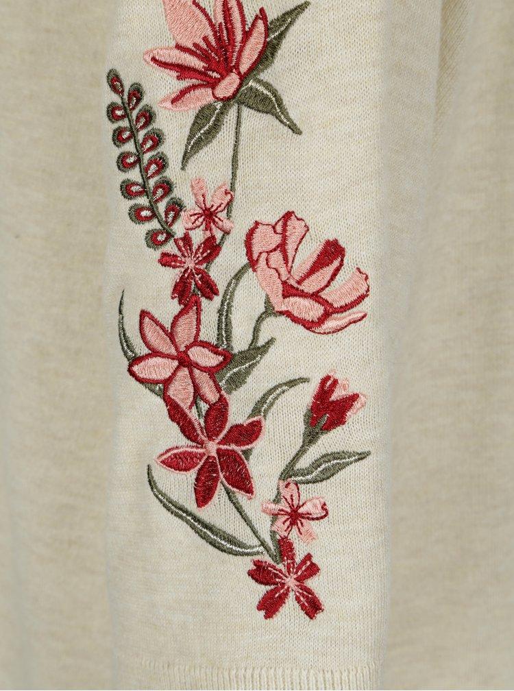 Krémový kardigan s květovanými nášivkami Dorothy Perkins