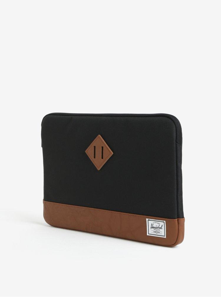 """Husa negru&maro pentru laptop de 13"""" - Herschel Heritage"""