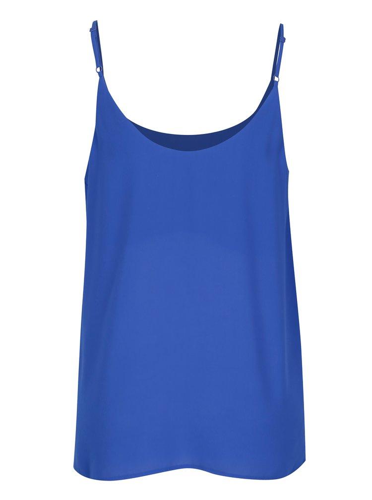 Modrý top s tenkými ramínky Dorothy Perkins