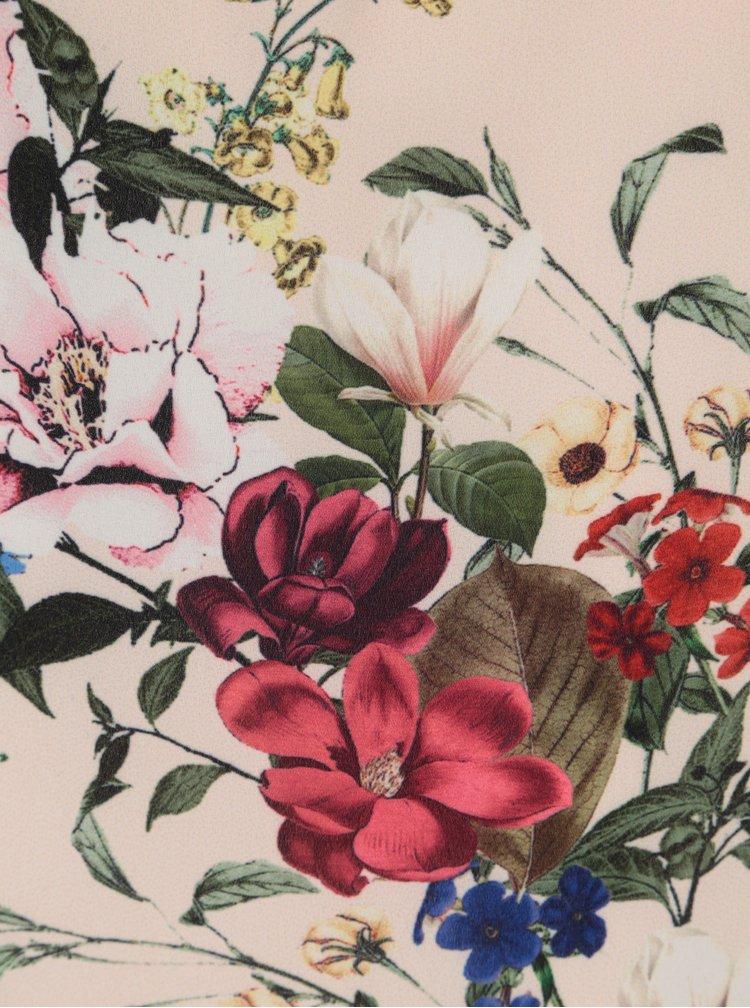 Světle růžová květovaná halenka s volány Billie & Blossom