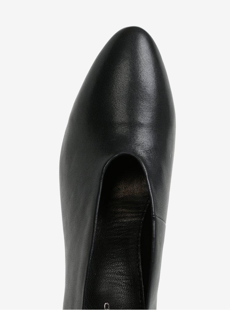 Černé kožené lodičky na širokém podpatku Vagabond Eve