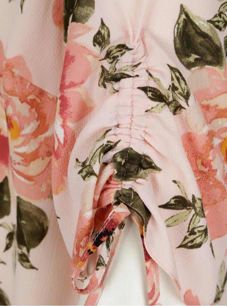 Světle růžová květovaná halenka Dorothy Perkins Curve