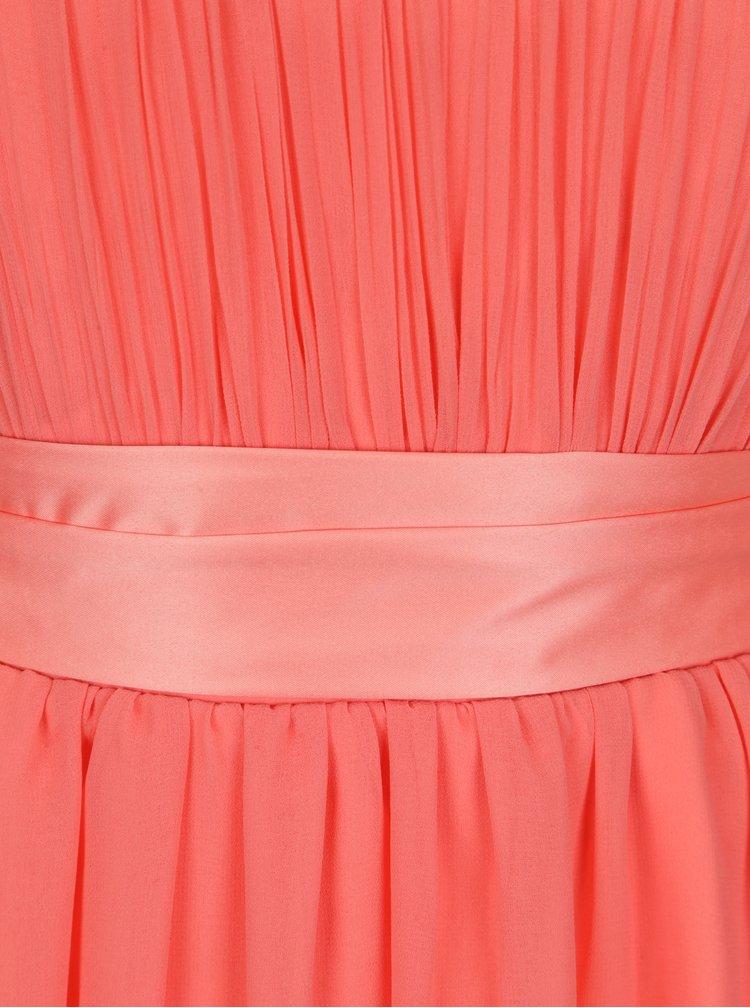Růžové šaty se stuhou v pase Dorothy Perkins