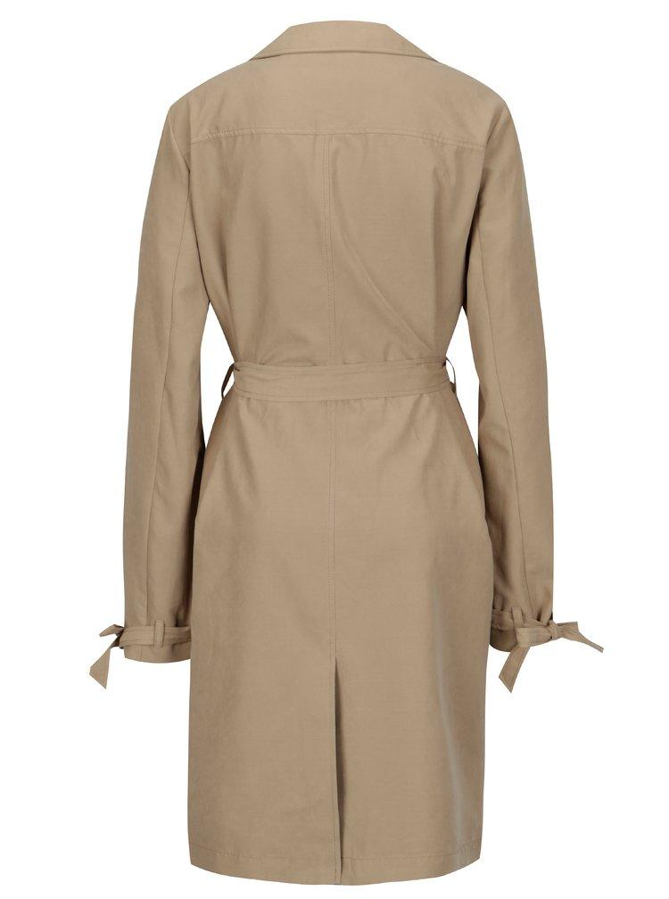 Béžový lehký kabát s páskem Dorothy Perkins Tall