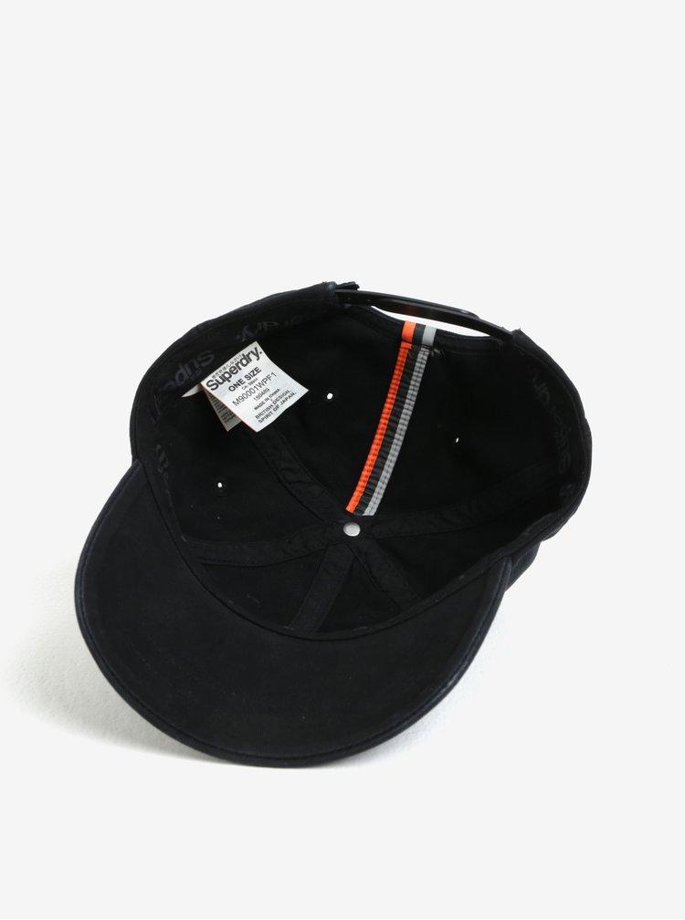 Černá pánská kšiltovka s výšivkou Superdry Orange Label