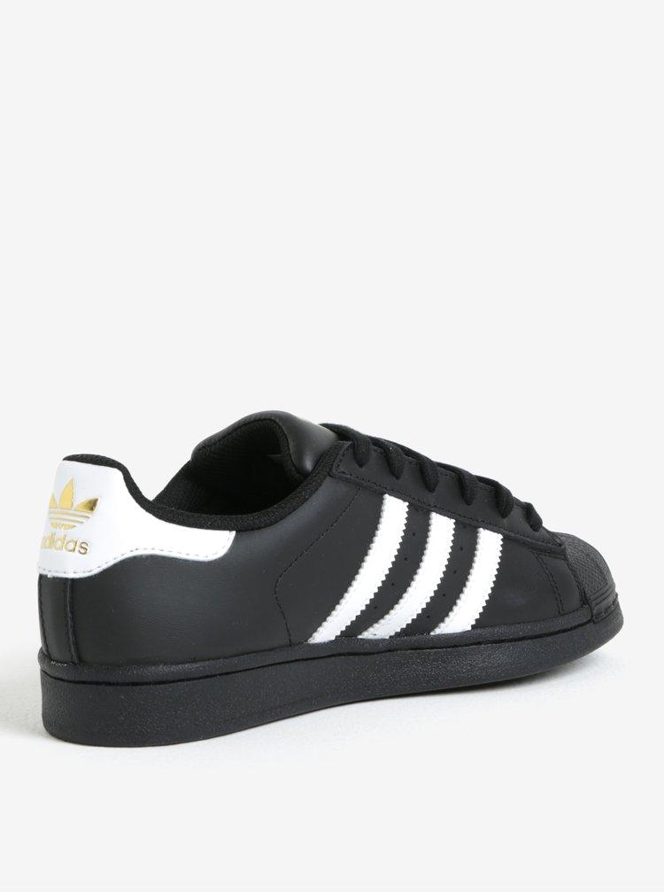 Černé unisex tenisky adidas Originals Superstar