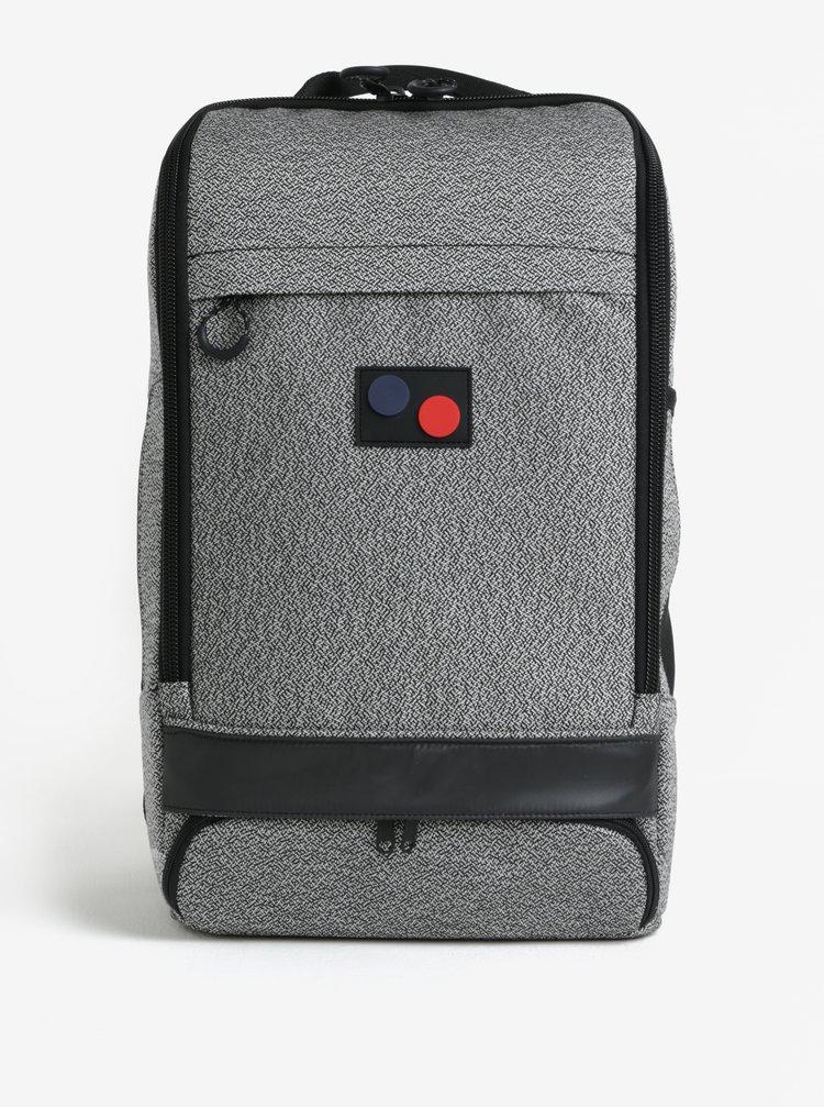 Šedý žíhaný batoh pinqponq Cubik Large 22 l