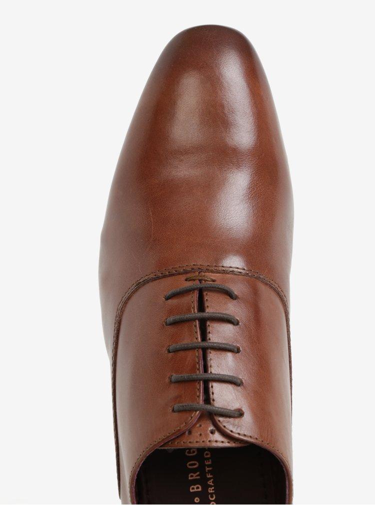 Pantofi barbatesti maro din piele naturala pentru barbati - London Brogues Denley