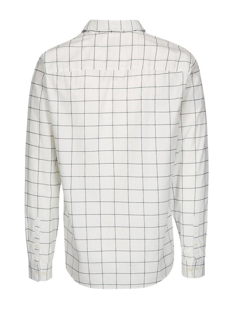 Krémová kostkovaná regular fit košile Selected Homme Two Grid