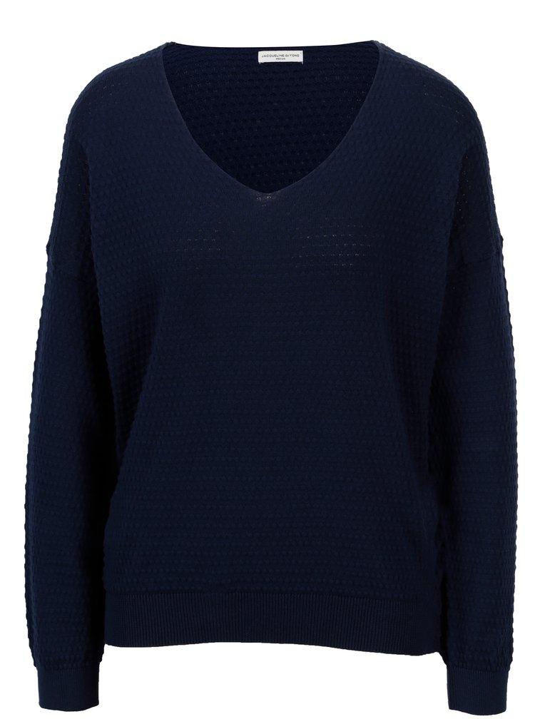 Tmavě modrý vzorovaný svetr Jacqueline de Yong Barbera