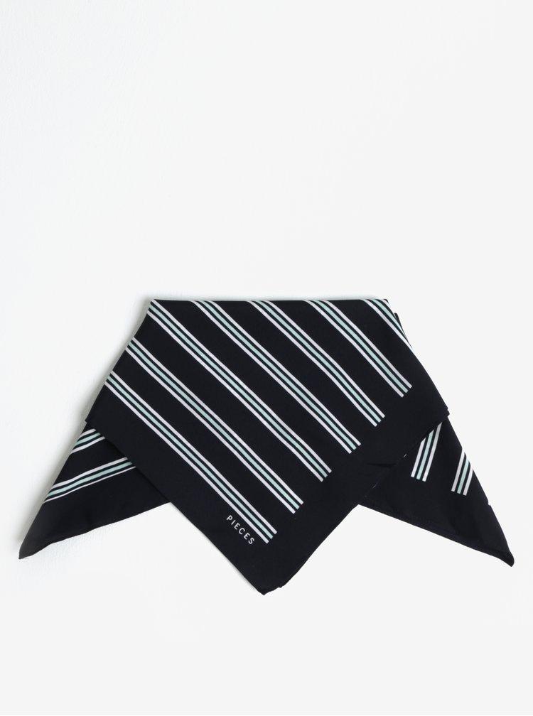 Tmavě modrý pruhovaný šátek Pieces Nomani