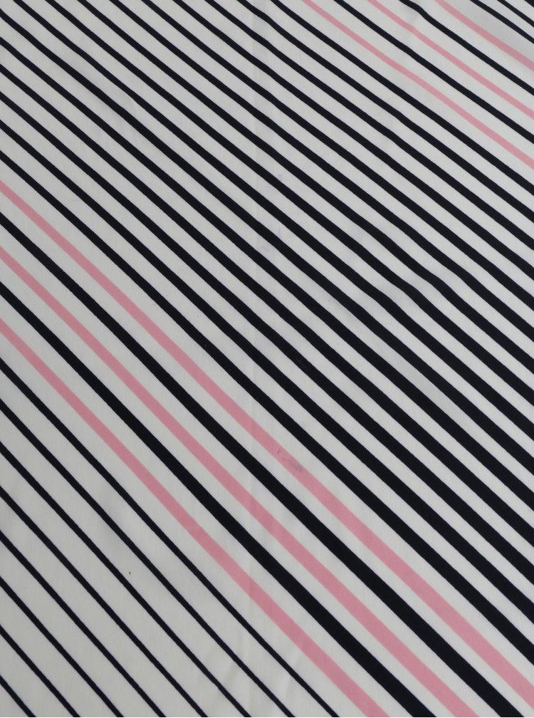 Světle růžový pruhovaný šátek Pieces Nomani