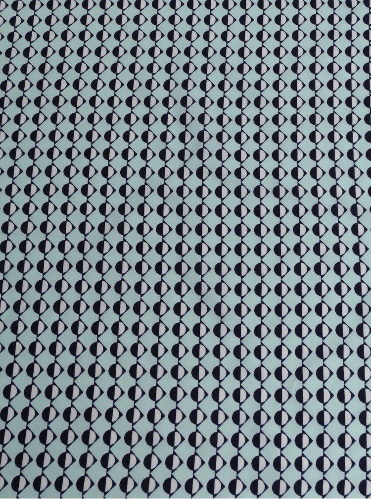 Světle modrý vzorovaný šátek Pieces Nomani
