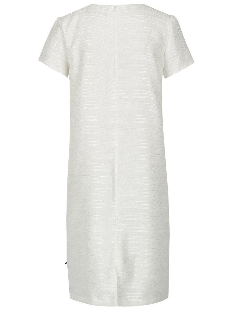 Krémové šaty s ozdobnými korálky NISSA