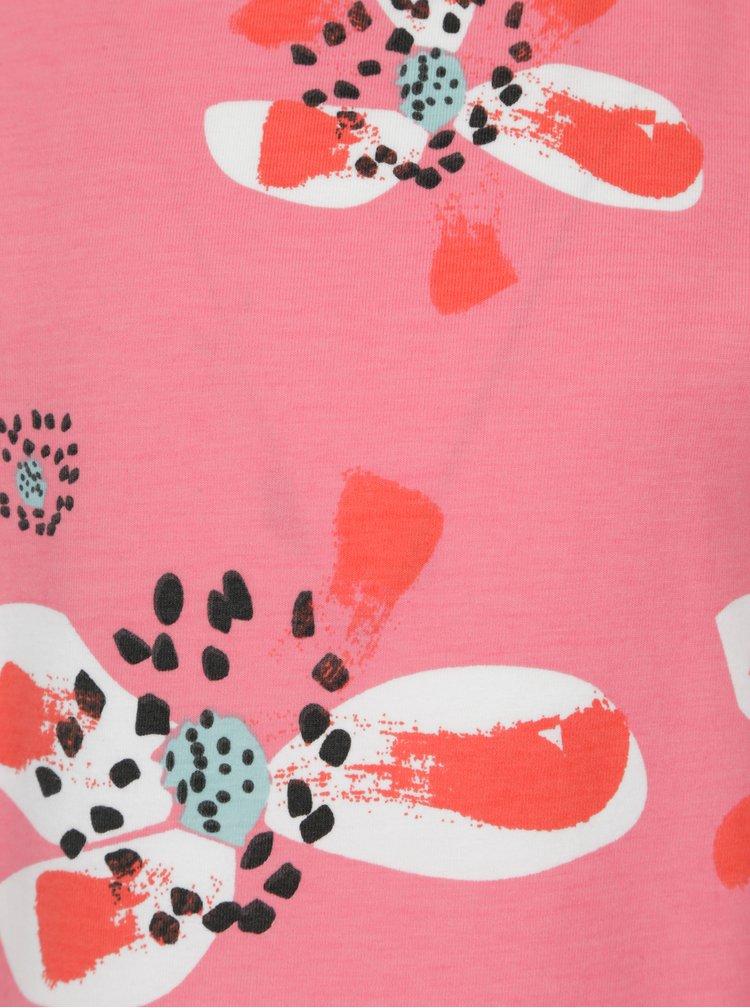 Růžové holčičí květované tričko Reima Conch
