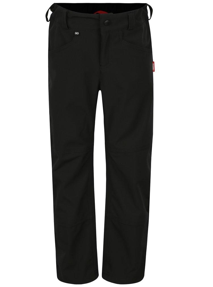 Černé klučičí softshellové voděodolné kalhoty Reima Agern