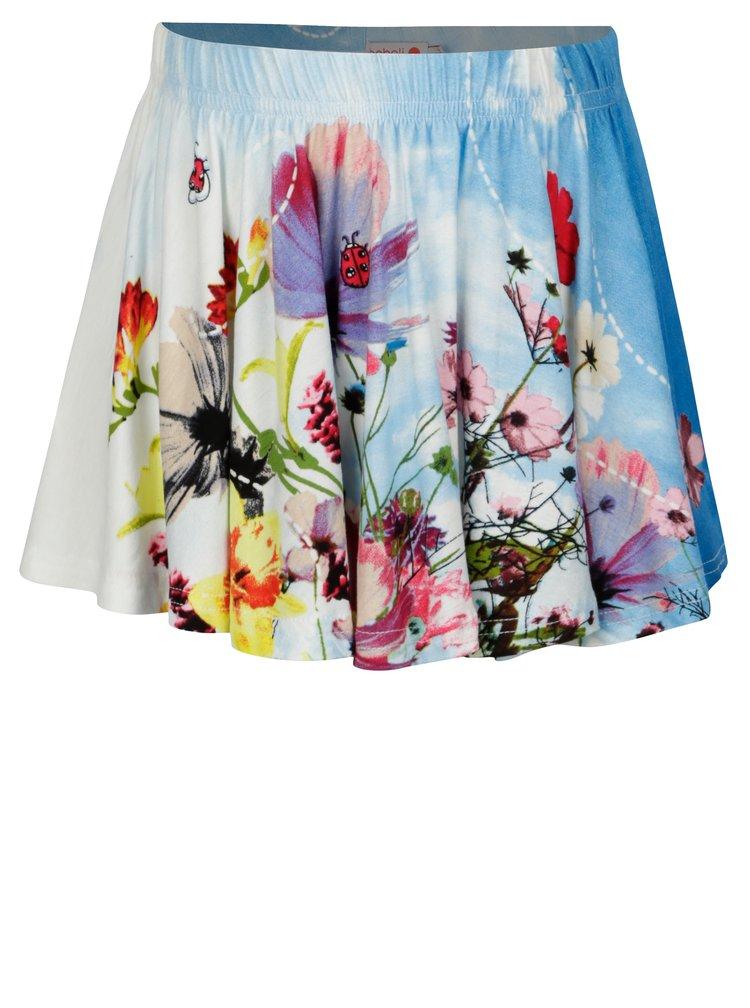 Krémovo-modrá holčičí sukně s potiskem BÓBOLI