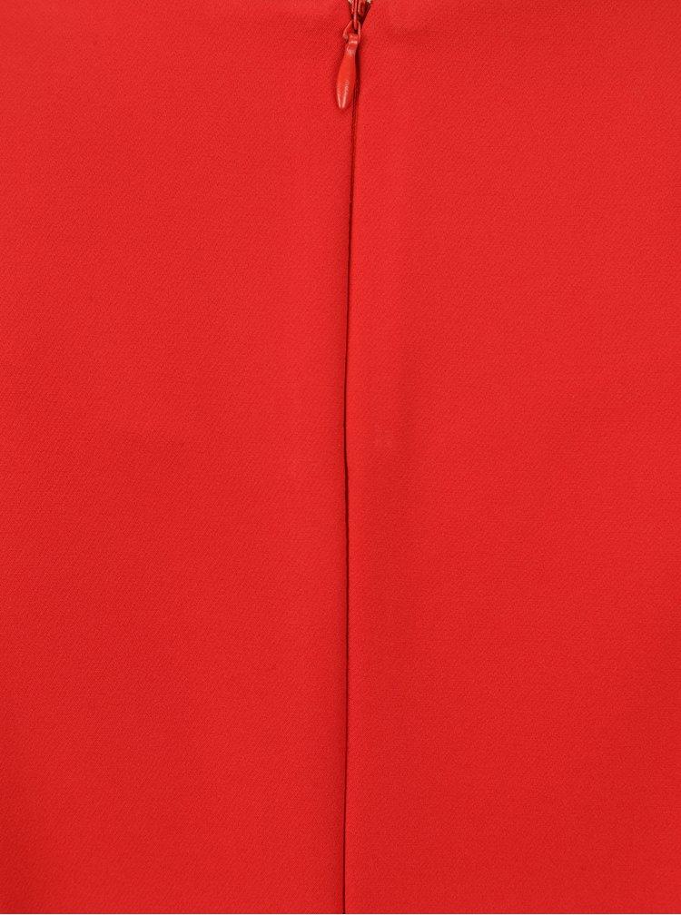 Červená halenka s mašlemi NISSA