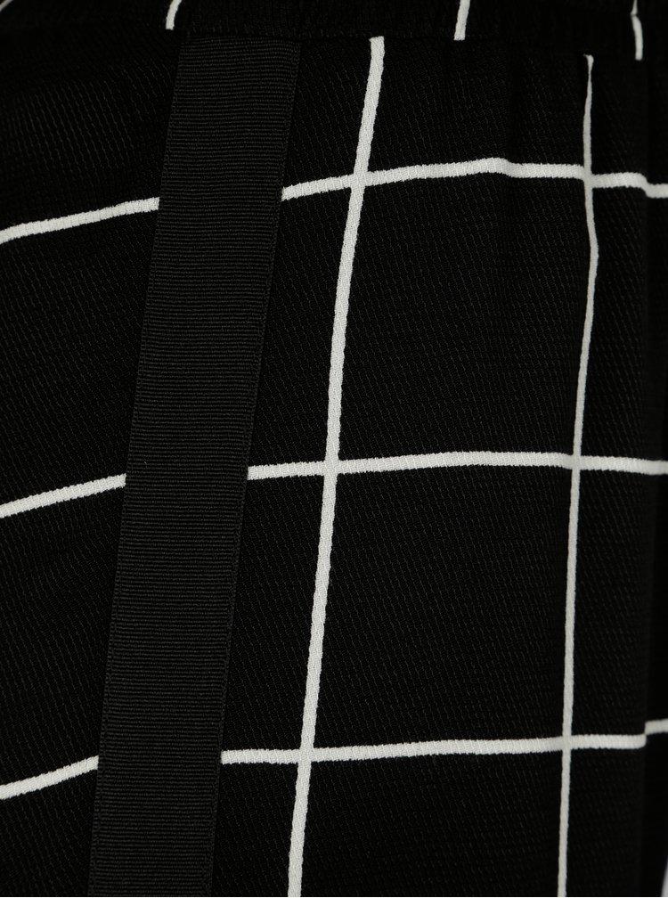 Černé kostkované kalhoty NISSA