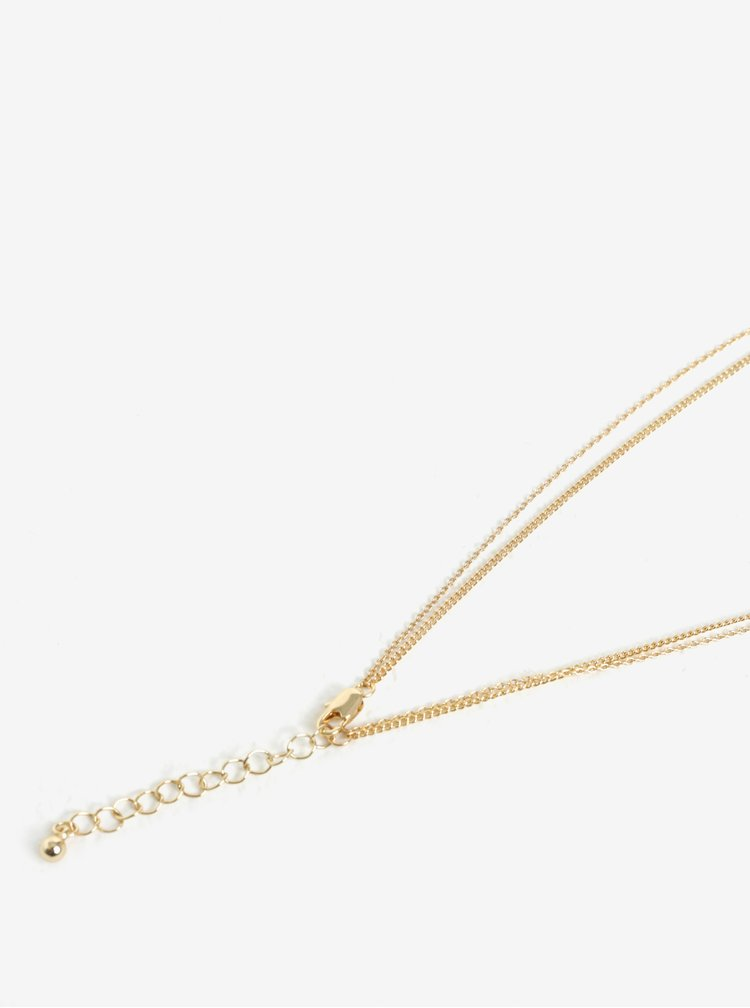 Dvojitý řetízek s přívěskem ve zlaté barvě Pieces Gimma