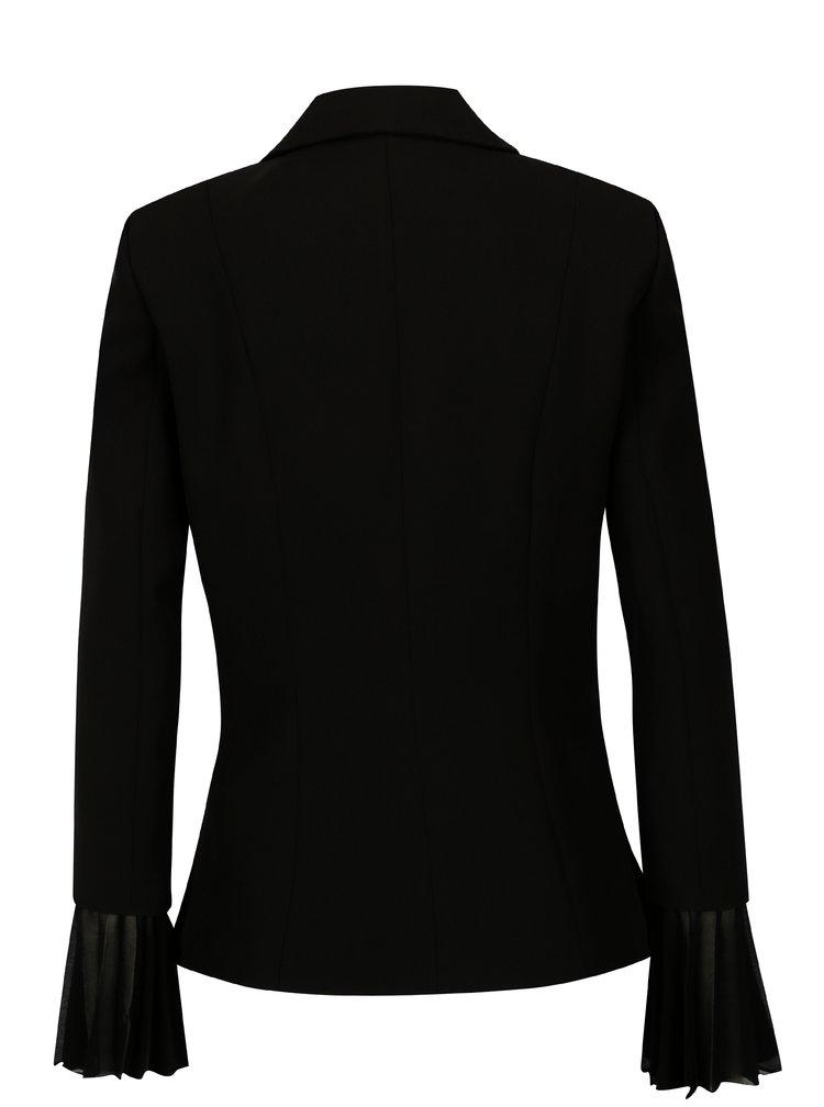 Černé sako s nášivkami NISSA