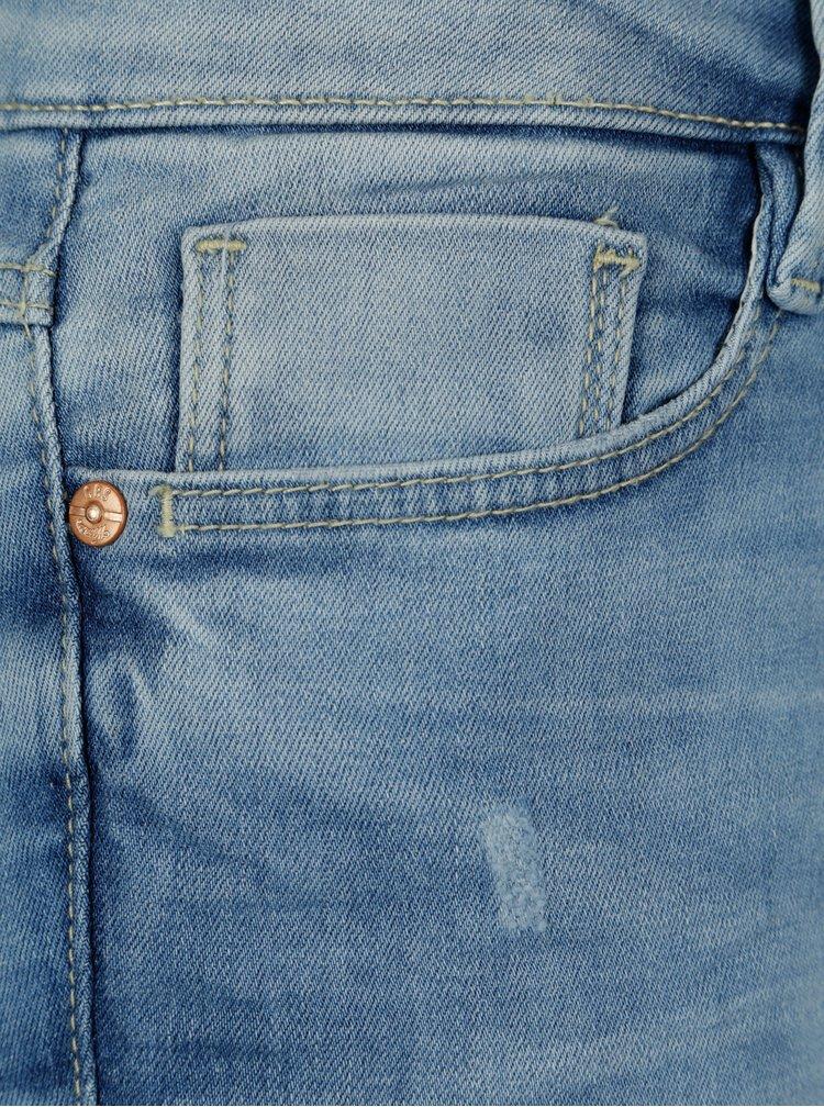 Blugi albastru deshis slim fit pentru femei - Cars Gaby