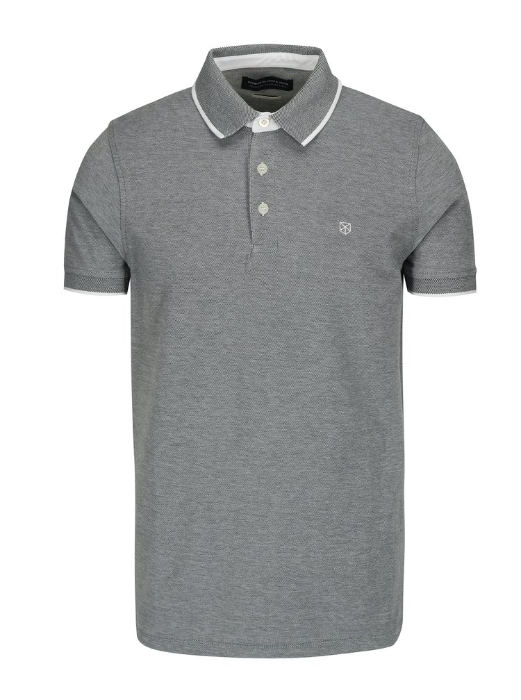 Šedé polo tričko Jack & Jones Paulos