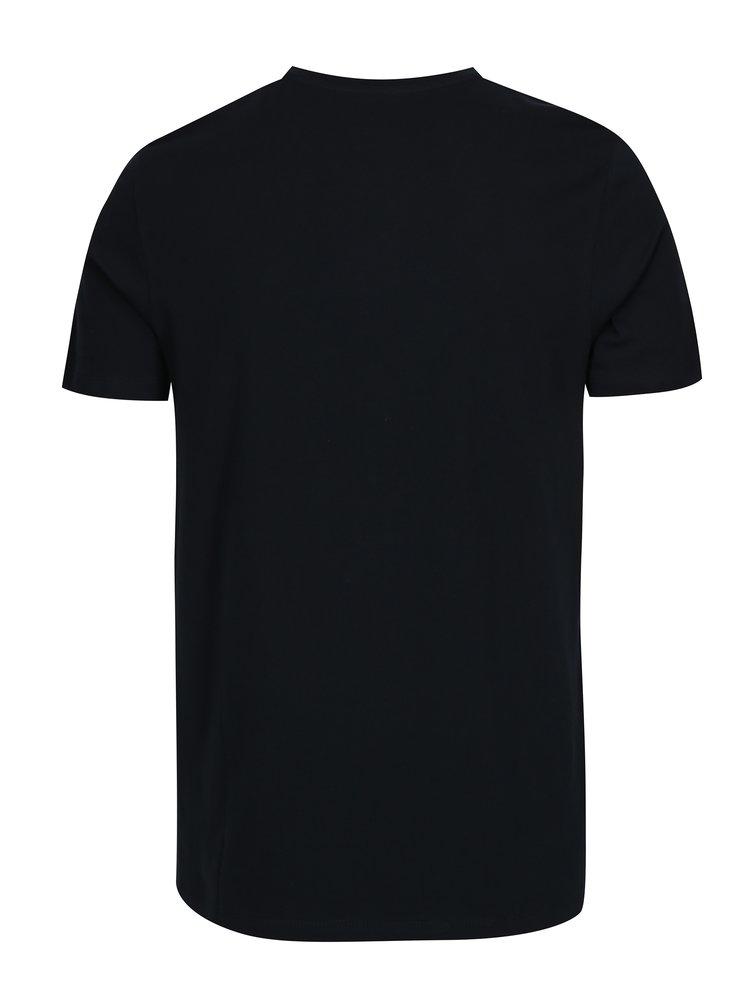 Tmavě modré tričko s potiskem Jack & Jones Face