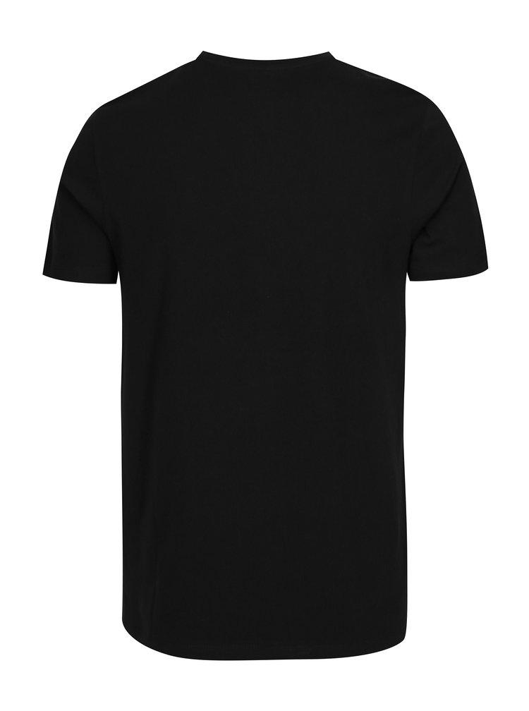 Černé tričko s potiskem Jack & Jones Face