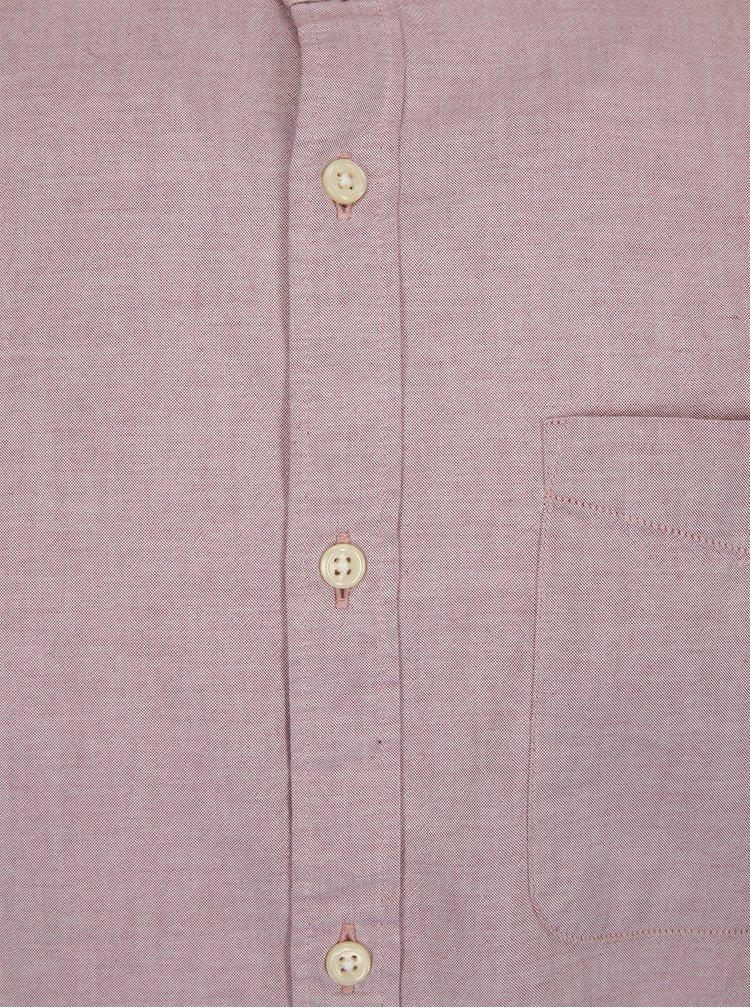 Camasa slim fit roz pal cu guler tunica - Jack & Jones Kevin